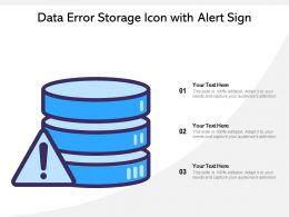 Data Error Storage Icon With Alert Sign
