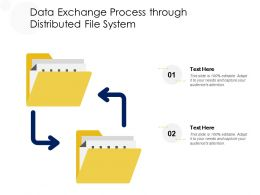 Data Exchange Process Through Distributed File System