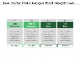 Data Extraction Product Managers Market Strategists Travel Transport