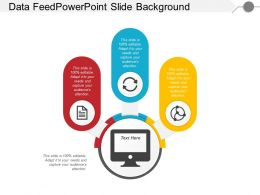 Data Feed Powerpoint Slide Background