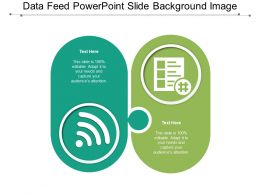 Data Feed Powerpoint Slide Background Image