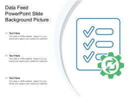 Data Feed Powerpoint Slide Background Picture