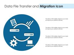 Data File Transfer And Migration Icon