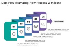 Data Flow Alternating Flow Process With Icons