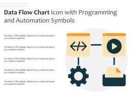 Data Flow Chart Icon With Programming And Automation Symbols