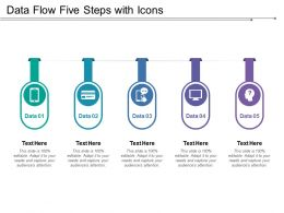 Data Flow Five Steps With Icons