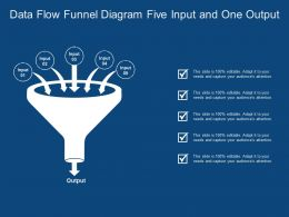 Data Flow Funnel Diagram Five Input And One Output
