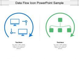 Data Flow Icon Powerpoint Sample