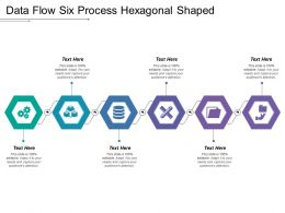 Data Flow Six Process Hexagonal Shaped