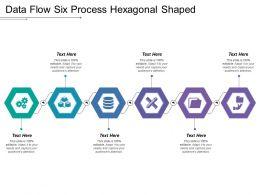 Data Flow Six Process Hexagonal Shaped