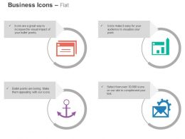 Data Folder Anchor Process Gears Documents Ppt Icons Graphics