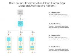 Data Format Transformation Cloud Computing Standard Architecture Patterns Ppt Presentation Diagram