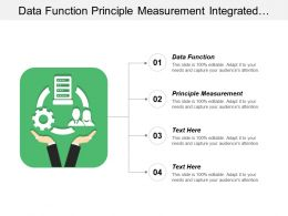 Data Function Principle Measurement Integrated Campaigns Technology Integration