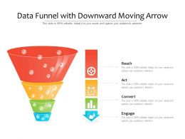 Data Funnel With Downward Moving Arrow