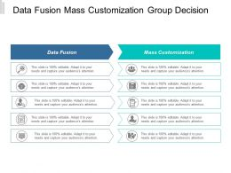 Data Fusion Mass Customization Group Decision Making Process Cpb