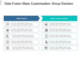 Data Fusion Mass Customization Group Decision Making Process Cpb