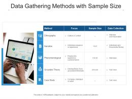 Data Gathering Methods With Sample Size