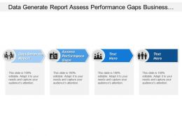 Data Generate Report Assess Performance Gaps Business Units