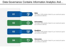 Data Governance Contains Information Analytics And Outcomes