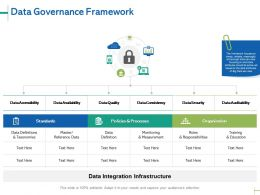 Data Governance Framework Management Ppt Powerpoint Presentation Gallery Icon