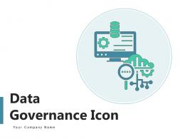 Data Governance Icon Business Operations Management Adjustment Gear