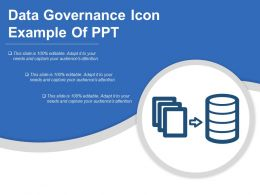 Data Governance Icon Example Of Ppt