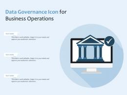 Data Governance Icon For Business Operations