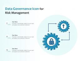 Data Governance Icon For Risk Management
