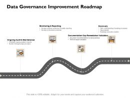 Data Governance Improvement Roadmap Ppt Powerpoint Presentation File Mockup