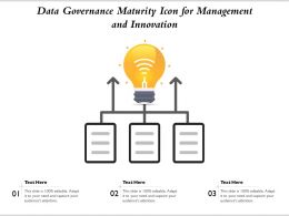 Data Governance Maturity Icon For Management And Innovation