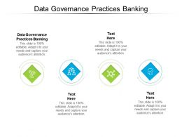 Data Governance Practices Banking Ppt Powerpoint Presentation Outline Show Cpb