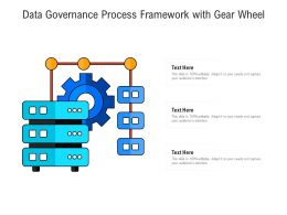 Data Governance Process Framework With Gear Wheel