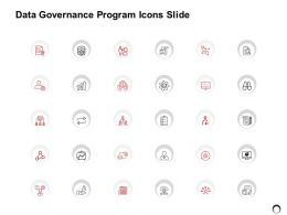 Data Governance Program Icon Slide Strategy Ppt Powerpoint Presentation Gallery Ideas