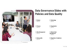 Data Governance Slides With Policies And Data Quality