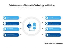 Data Governance Slides With Technology And Policies