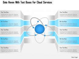 Data Haven With Text Boxes For Cloud Services Ppt Slides