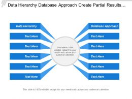 Data Hierarchy Database Approach Create Partial Results Sets
