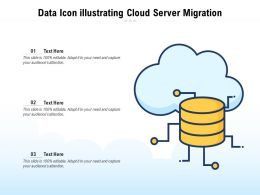 Data Icon Illustrating Cloud Server Migration
