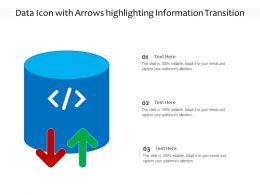 Data Icon With Arrows Highlighting Information Transition