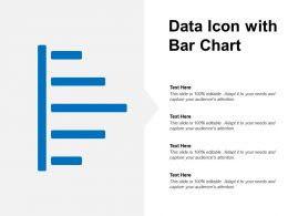 Data Icon With Bar Chart