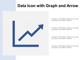 Data Icon With Graph And Arrow