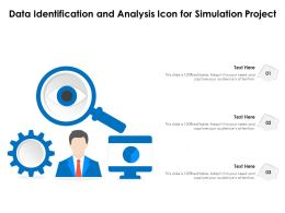 Data Identification And Analysis Icon For Simulation Project