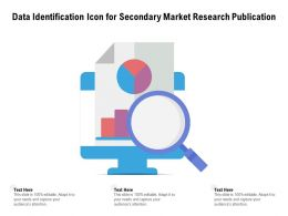 Data Identification Icon For Secondary Market Research Publication