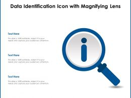 Data Identification Icon With Magnifying Lens