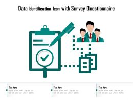 Data Identification Icon With Survey Questionnaire