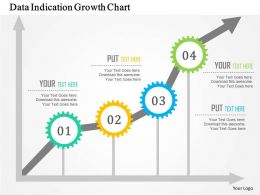 Data Indication Growth Chart Flat Powerpoint Design