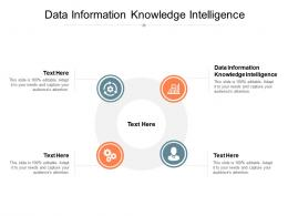 Data Information Knowledge Intelligence Ppt Powerpoint Presentation Pictures Mockup Cpb