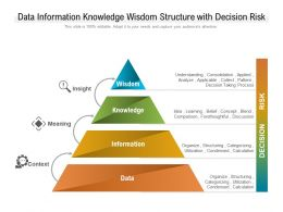 Data Information Knowledge Wisdom Structure With Decision Risk