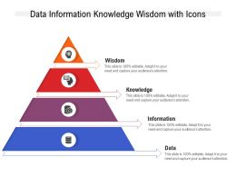Data Information Knowledge Wisdom With Icons