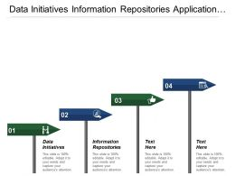 Data Initiatives Information Repositories Application Architecture Infrastructure Initiatives